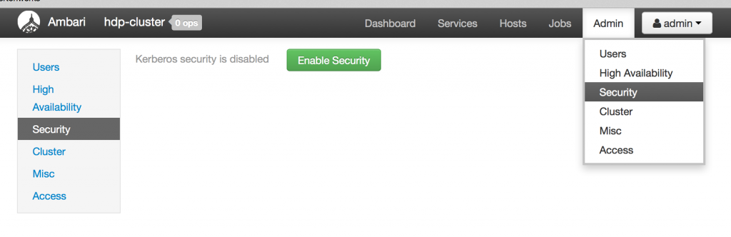 Enable Security