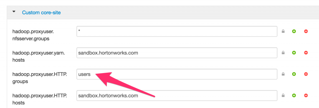 HTTP proxyuser configuration